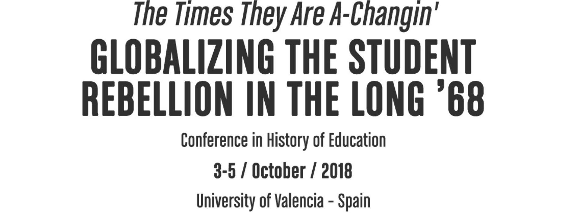 CFP: Globalizing the student rebellion in the long '68. Deadline Apr. 4 2018
